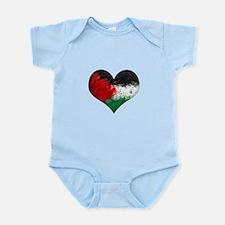 Palestine Heart Infant Bodysuit