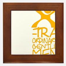 X-Traordinary Gentlemen - YELLOW Framed Tile