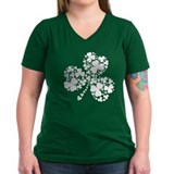 St patricks day Womens V-Neck T-shirts (Dark)