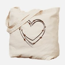 Barbed Wire Heart Tote Bag