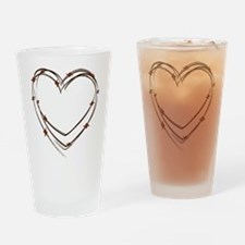 Barbed Wire Heart Drinking Glass