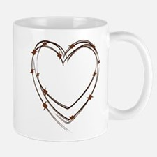 Barbed Wire Heart Mug
