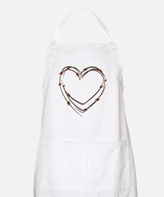 Barbed Wire Heart Apron