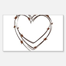 Barbed Wire Heart Decal