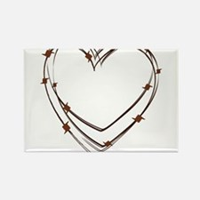 Barbed Wire Heart Rectangle Magnet