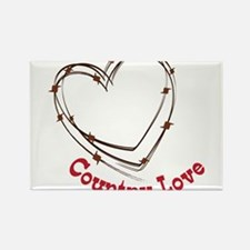 Country Love Rectangle Magnet