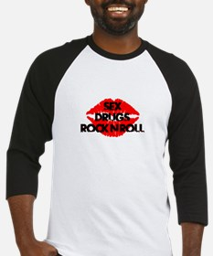 sex drugs and rock n roll party club tee Baseball