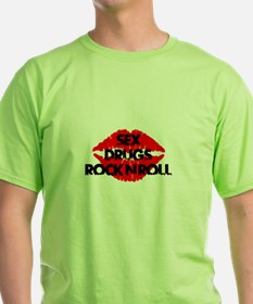 sex drugs and rock n roll party club tee T-Shirt