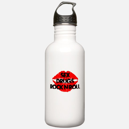 sex drugs and rock n roll party club tee Water Bottle
