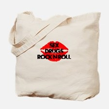 sex drugs and rock n roll party club tee Tote Bag