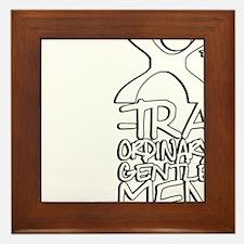 X-Traordinary Gentlemen - WHITE Framed Tile
