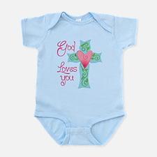 God Loves You Infant Bodysuit