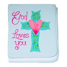 God Loves You baby blanket