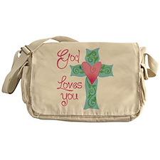 God Loves You Messenger Bag