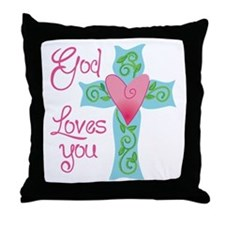 God Loves You Throw Pillow