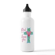 God Loves You Water Bottle