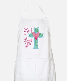 God Loves You Apron