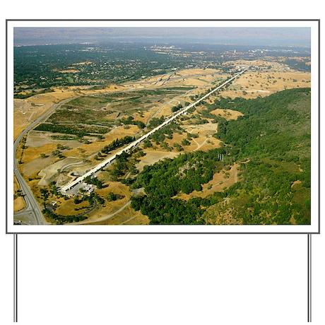 Aerial photo of SLAC linear accelerator - Yard Sig