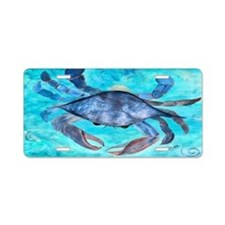Blue Crab Aluminum License Plate