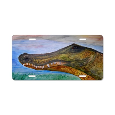 Alligator art Aluminum License Plate
