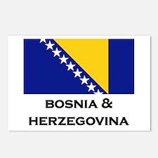 Bosnia & Herzegovina Flag Stuff Postcards (Package