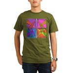 Kennedy Tartan Organic Men's T-Shirt (dark)