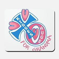 Hugs and Kisses for Grandma Mousepad