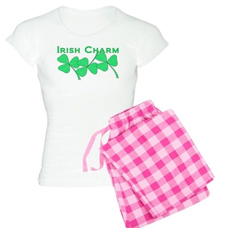 Irish Charm Dotted Shamrock Women's Light Pajamas