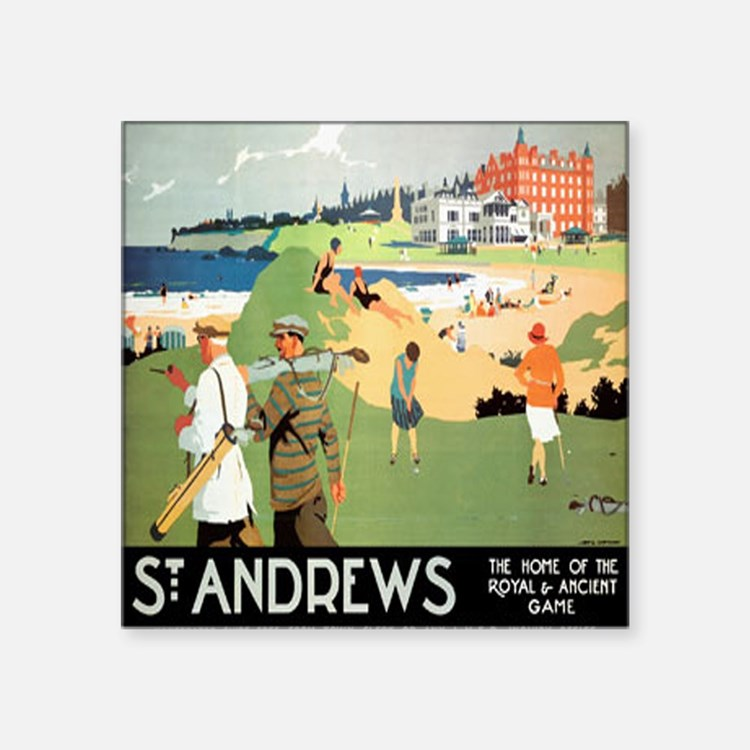 ST. ANDREW'S GOLF CLUB 2 Rectangle Sticker