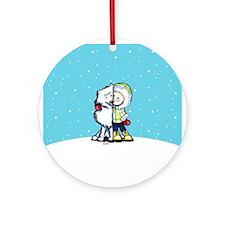 Eskimo Kisses Ornament (Round)