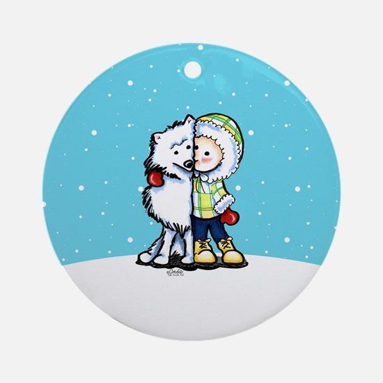 Eskimo Kisses Ornament (Round)