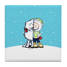 Eskimo Kisses Tile Coaster