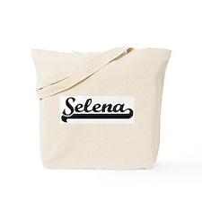 Black jersey: Selena Tote Bag