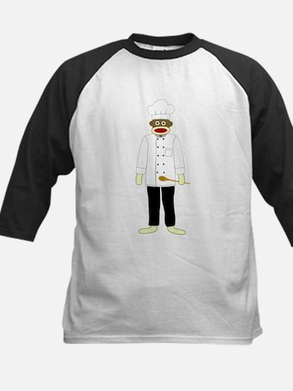 Sock Monkey Chef Kids Baseball Jersey