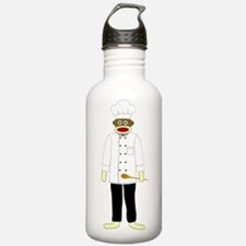 Sock Monkey Chef Water Bottle