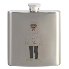 Sock Monkey Chef Flask