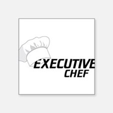 """Executive Chef Square Sticker 3"""" x 3"""""""