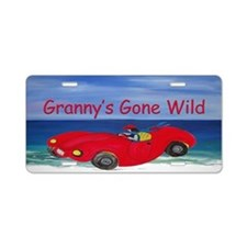 Grannys Gone Wild Aluminum License Plate