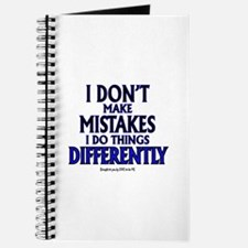 I DON'T MAKE MISTAKES..... Journal