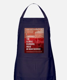 I Survived The Global Warming Hoax Apron (dark)
