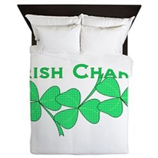 Irish Charm Dotted Shamrock Queen Duvet