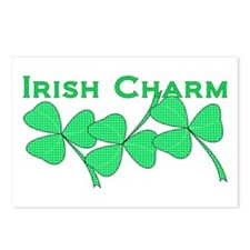 Irish Charm Dotted Shamrock Postcards (Package of