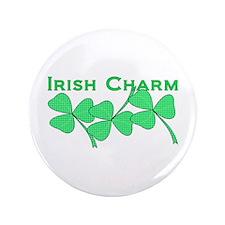 """Irish Charm Dotted Shamrock 3.5"""" Button"""