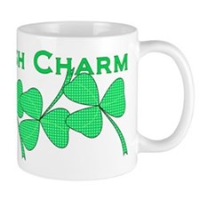 Irish Charm Dotted Shamrock Mug