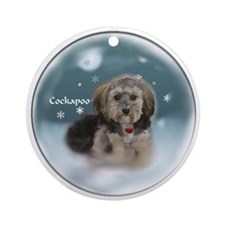 Cockapoo Christmas Ornament (Round)