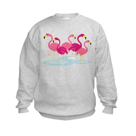 Flamingos Kids Sweatshirt
