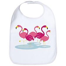 Flamingos Bib