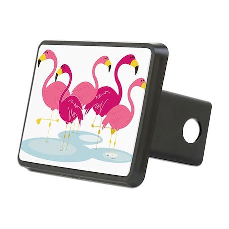 Flamingos Rectangular Hitch Cover