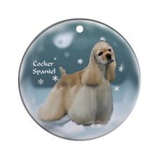 Cocker Spaniel Ornament (Round)