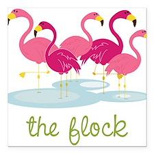 "The Flock Square Car Magnet 3"" x 3"""